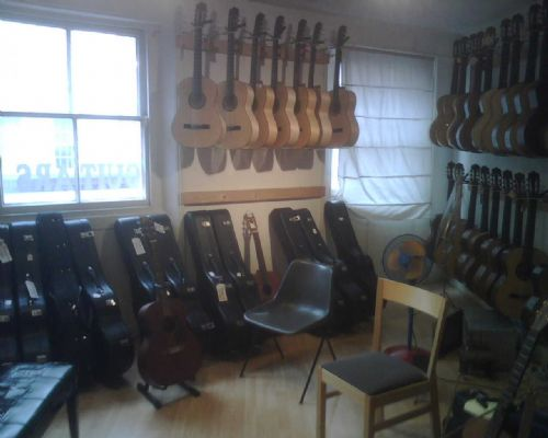 Take a look inside - a great selection of guitars