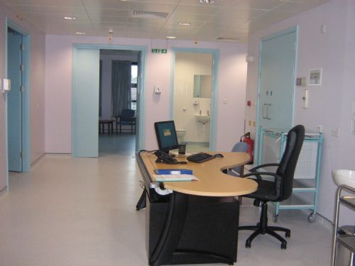 Reception area of new Laser eye clinic in West London