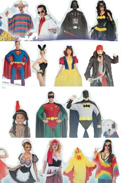 Fancy dress costume collection.