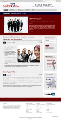 Website design lauderandhall.com recruitment consultant based in Kent