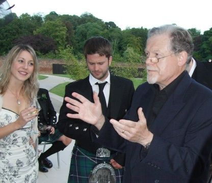 Dr Solon performs at a wedding at Alnwick Garden