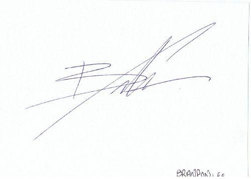 Brandon Lee Autograph