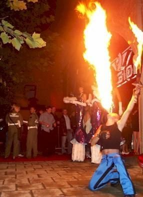 Unique Performers - Fire breathers and angle grinders