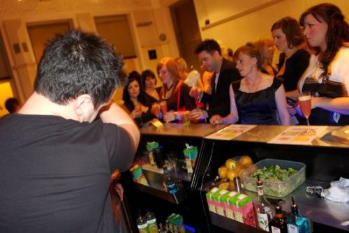 The Retail Therapy Awards - Zest mobile bar units set up