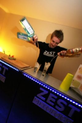 Flair Bartenders - They juggle with bottles and perform highly visual routines
