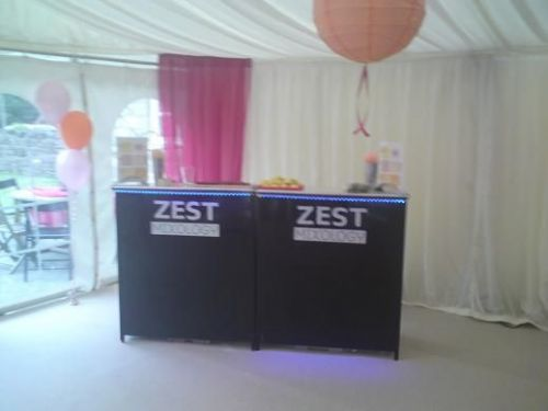 Private Party - Zest mobile bar units set up in a marquee