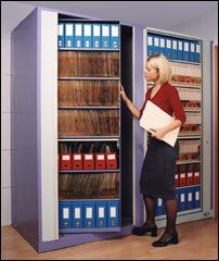 Rotary Units, also known as Pirouette Units, Times Two Units, hold the equivalent of 5 x 4 drawer cabinets in 1 sqm!