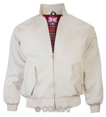 Beige Harrington Jacket Combat