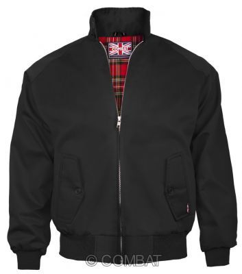 Black Harrington Jacket Combat