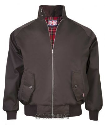 Brown Harrington Jacket Combat
