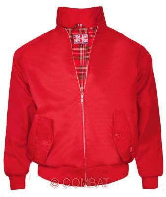 Red Harrington Jacket Combat