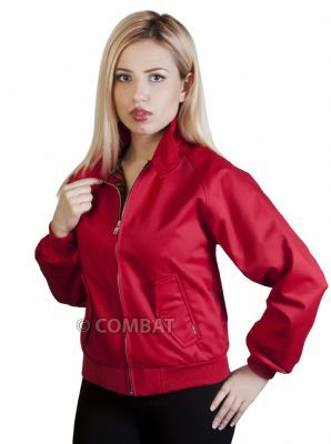 Girls Red Harrington Jacket