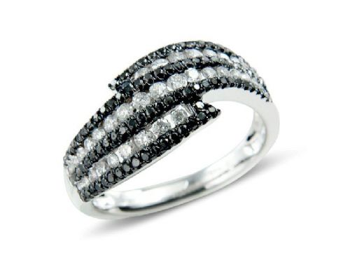 Black & White Diamond Cocktail Ring