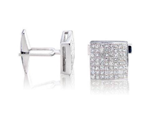 Diamond Studded Cuff-Links