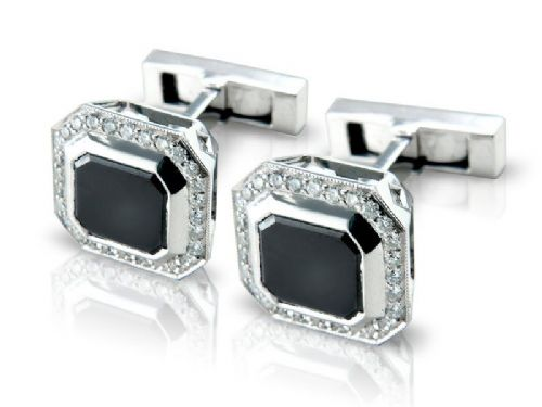Diamond Cuff-Links