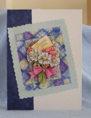 White Daisy A5 Thank You Card