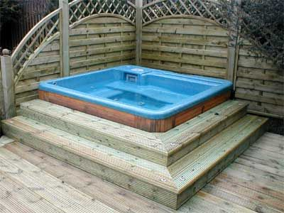 Hot tub and decking installation.