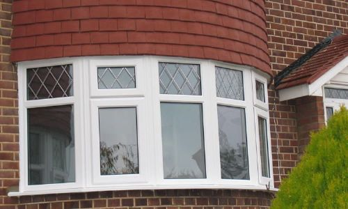 Double glazed bow window