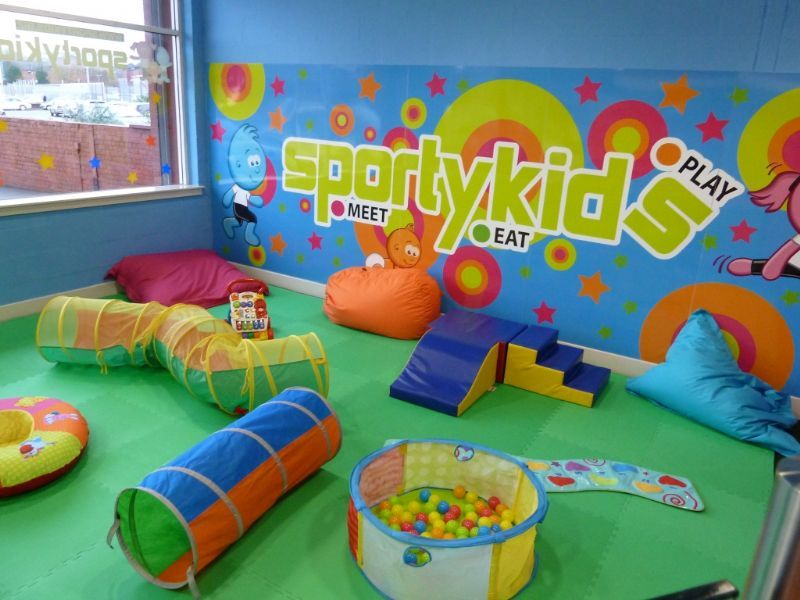 Our front toddler and crawler area, can be hired out for kids classes