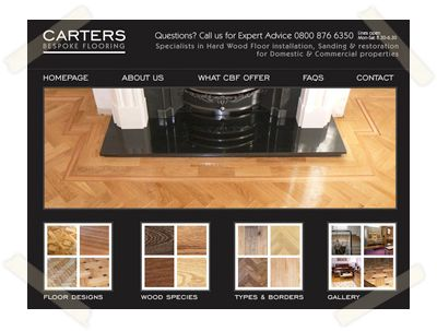 Carters Bespoke Flooring website