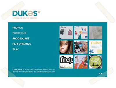 Claire Dukes Graphic Designer website