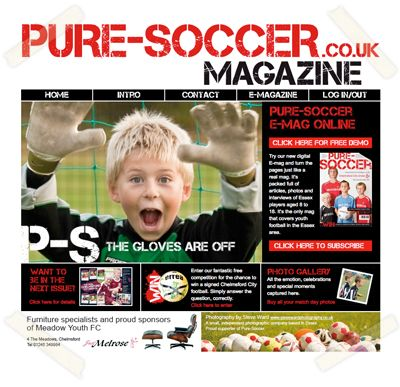 Pure Soccer online magazine website