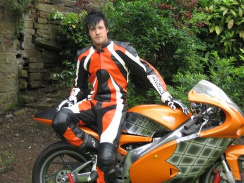 Ben with his made to measure leathers
