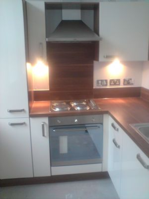 New fitted kitchen and re-wired kitchen Mcphail street