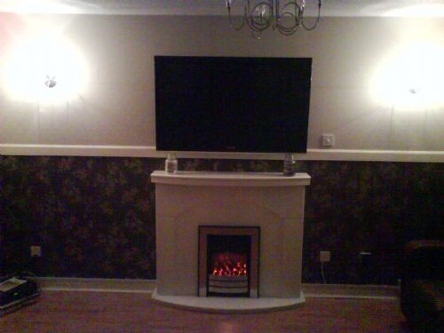 Georges new tv installation and wall lights