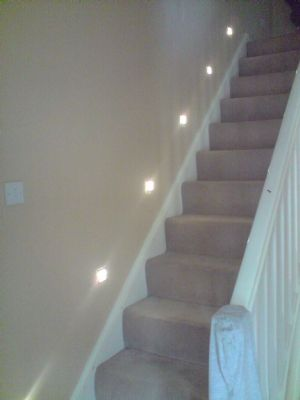 Stair lights job june 2010.