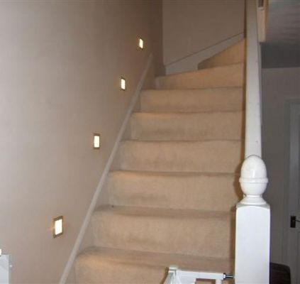 Decorative stair lighting.