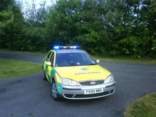 RRV13 on scene at a cycle race incident