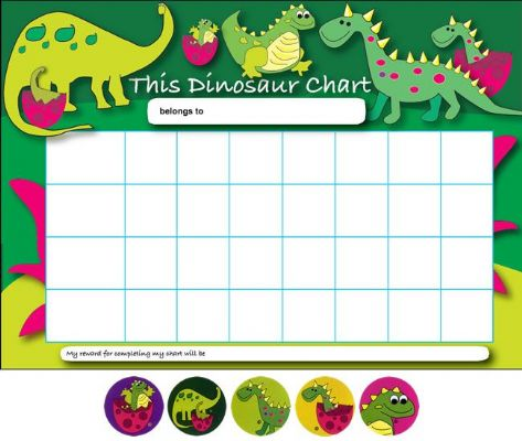 Dinosaur Reward Charts & Stickers Pack