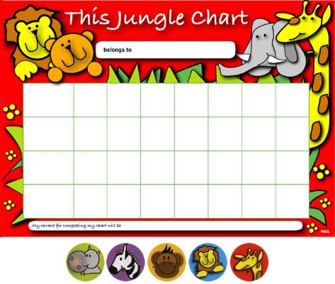 Jungle Reward Charts & Stickers Pack