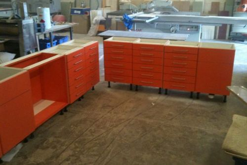 Dental Cabinets In Production