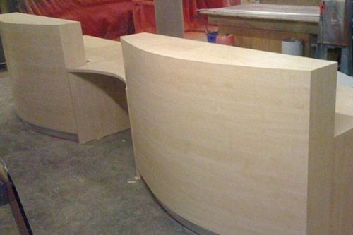 Bespoke Reception Counter In Production - 2012 London