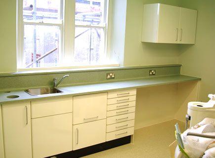 Dental Cabinets during Installation
