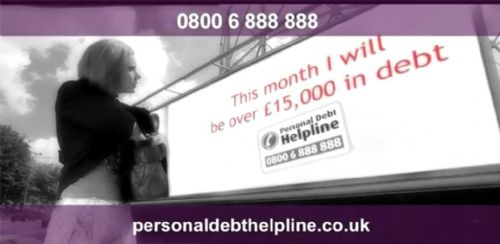 TV Advert Debt Problems Personal Debt Helpline