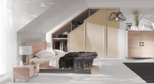Sloped ceiling wardrobes