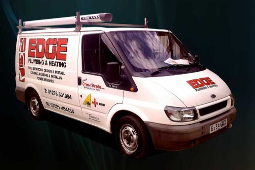 Signwriting on Edge Plumbing Van