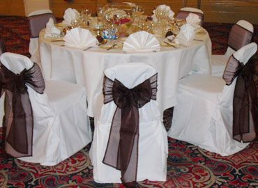 Chaircovers for hire.