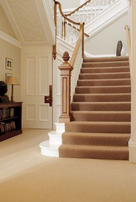 Wool Carpet in hallway and staircase