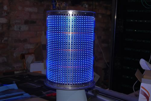 Cardif Lighthouse Artwork - Blue LED Lighting Unit