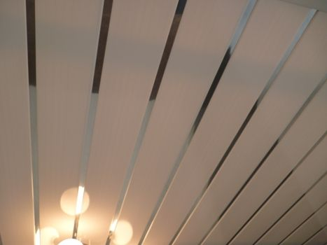 White Ceiling With Chrome Highlight Strip