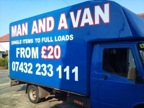 man with a van graphics