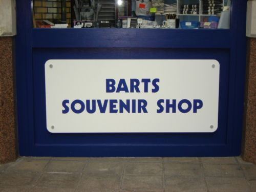 st bartholomew's souvenir shop sign