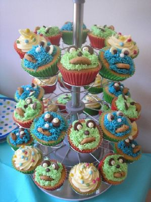 Monster cupcakes - great for kids parties!