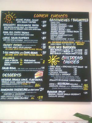 All Day Menu plus Daily Specials