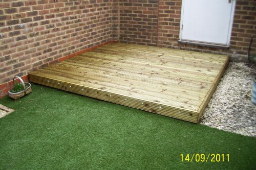 Basic 2.4m sq. decking area in Aylesbury
