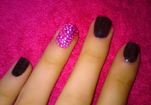 Full covered nail rhinestone diamante